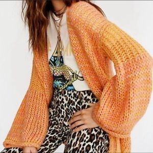 Free People Home Town Slouchy Cardigan Sweater